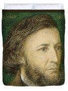 Portrait Of Robert Browning Duvet Cover