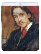 Portrait Of Robert Louis Stevenson 1850-1894 1886 Oil On Canvas Duvet Cover