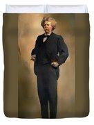 Portrait Of Samuel L Clemons - Mark Twain Duvet Cover