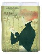 Portrait Of Sarah Bernhardt Duvet Cover by Manuel Orazi