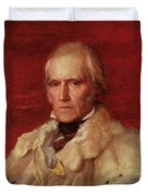 Portrait Of Stratford Canning 1786-1880, Viscount Stratford De Redcliffe 1856-7 Oil On Canvas Duvet Cover