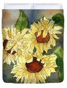 Portrait Of Sunflowers Duvet Cover