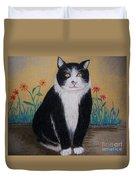 Portrait Of Teddy The Ninja Cat Duvet Cover