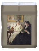 Portrait Of The Artist S Mother And Sister Duvet Cover