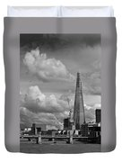 Portrait Of The Shard Black And White Version Duvet Cover