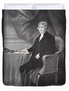 Portrait Of Thomas Jefferson Duvet Cover