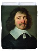Portrait Of Vincent Voiture 1597-1648 C.1643-44 Oil On Canvas Duvet Cover