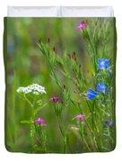 Portrait Of Wildflowers Duvet Cover