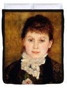 Portrait Of Woman Duvet Cover