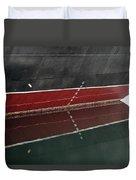 Portside Stern Water Line Queen Mary Ocean Liner Long Beach Ca Duvet Cover