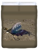 Portuguese Man-o War Beached Duvet Cover