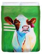 Posing Cow Duvet Cover