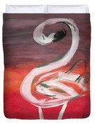 Posing Flamingo Duvet Cover