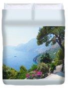 Positano Italy Amalfi Coast Delight Duvet Cover