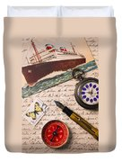 Post Card And Letter Duvet Cover