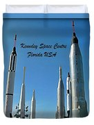 Post Card Of The Kennedy Space Centre Florida Duvet Cover