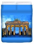 Post-it Art Berlin Brandenburg Gate Duvet Cover