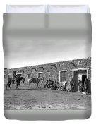 Post Office In Ganado, Arizona Duvet Cover