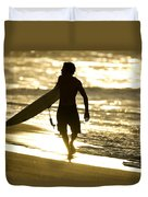 Post Surf Gold Duvet Cover