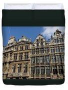 Postcard From Brussels - Grand Place Elegant Facades Duvet Cover