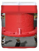 Postcards From Otis - The Hydrant Duvet Cover by Mike McGlothlen