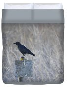 Posted Crow Duvet Cover