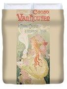Poster Advertising Caco Van Houten Duvet Cover