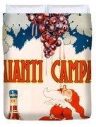 Poster Advertising Chianti Campani Duvet Cover