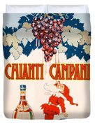 Poster Advertising Chianti Campani Duvet Cover by Necchi