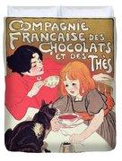 Poster Advertising The Compagnie Francaise Des Chocolats Et Des Thes Duvet Cover