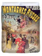 Poster Advertising The Montagnes Russes Roller Coaster Duvet Cover