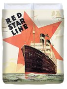 Poster Advertising The Red Star Line Duvet Cover