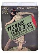 Poster Advertising Tisane Gauloise Duvet Cover