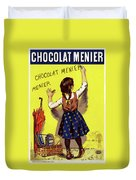 Poster Chocolate, 1893 Duvet Cover