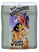 Poster For Aux Buttes Chaumont Toy Duvet Cover