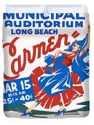 Poster For Production Of Carmen Duvet Cover
