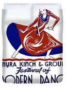 Poster Modern Dance Festival Duvet Cover