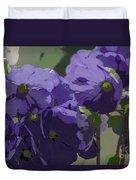 Posterised Flowers Duvet Cover