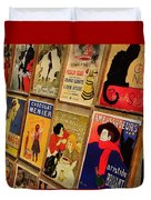 Posters In Paris Duvet Cover