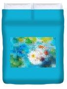 Pot Of Daisies 02 - J3327100-bl1t22a Duvet Cover