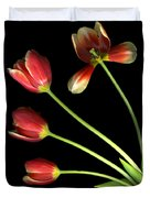 Pot Of Tulips Duvet Cover