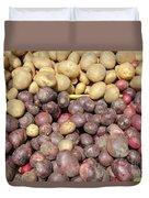 Potato Variety Display Duvet Cover