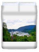 Potomac River At Harpers Ferry Duvet Cover