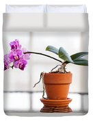 Potted Pink Orchid Duvet Cover