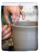 Potters Hands Duvet Cover