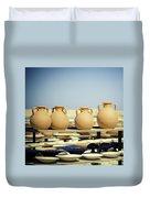 Pottery Market Duvet Cover