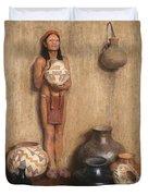 Pottery Vendor Duvet Cover