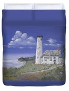 Poverty Island Lighthouse Duvet Cover