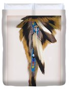 Pow Wow Regalia - White Duvet Cover