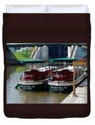 Powell Boats Duvet Cover